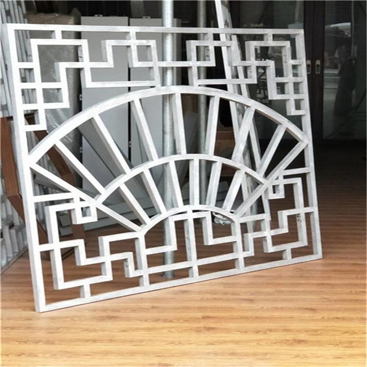 外墙装饰铝窗花厂家 匠铝出品中式防盗窗花
