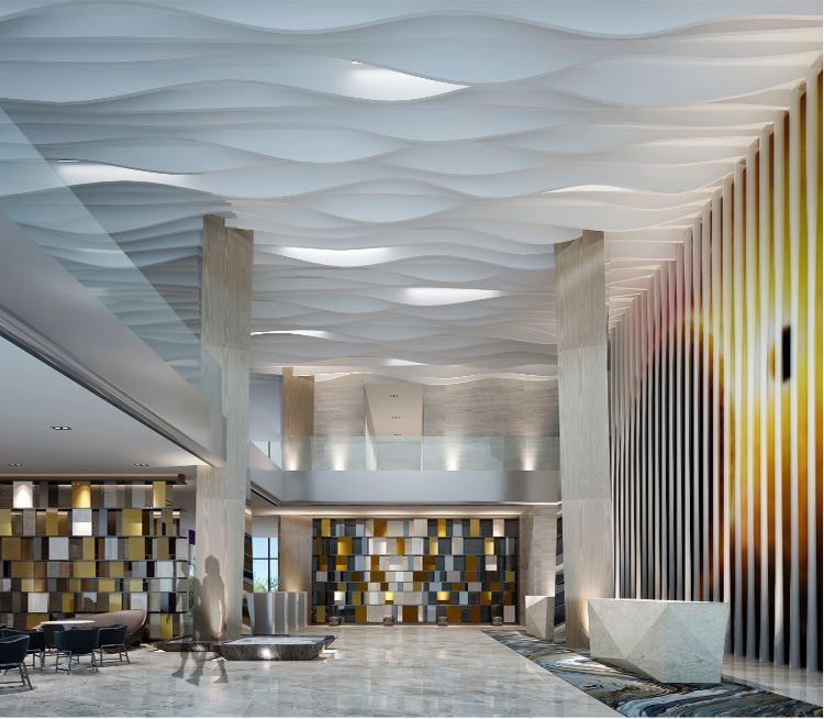 弧形铝方通波浪木纹铝方通吊顶天花厂家