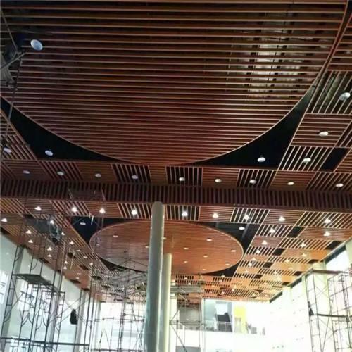 全国供应木纹铝方管 木纹铝方通吊顶u型槽