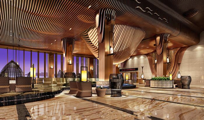 木纹弧形铝方通 咖啡厅弧形铝方通装饰吊顶