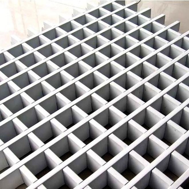 木纹格栅天花系列 吊顶装饰铝格栅天花