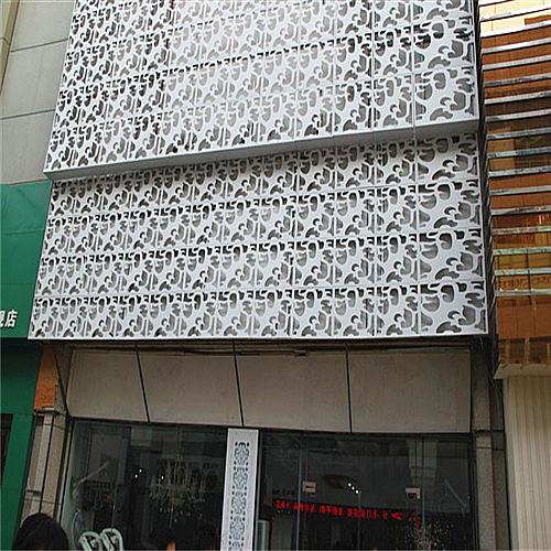 山东门头招牌装饰-雕花镂空铝单板 墙面装饰雕花铝板厂家定制