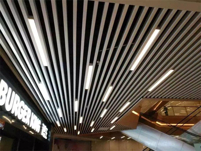 天花吊顶方管铝型材木纹铝方通 环保防火