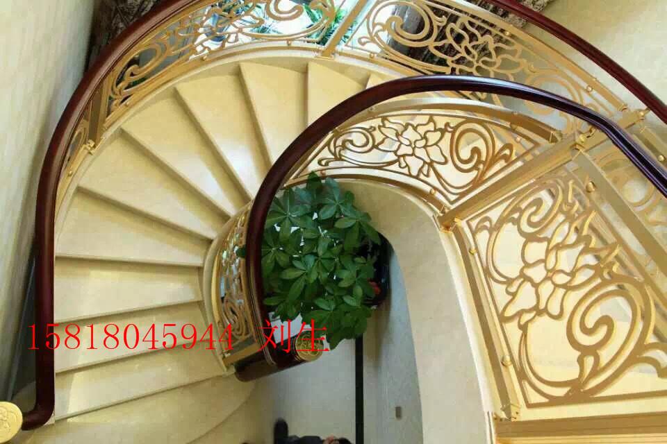 护栏室内护栏楼梯欧式高档铝艺别墅别墅定制私人万科提香贵阳图片