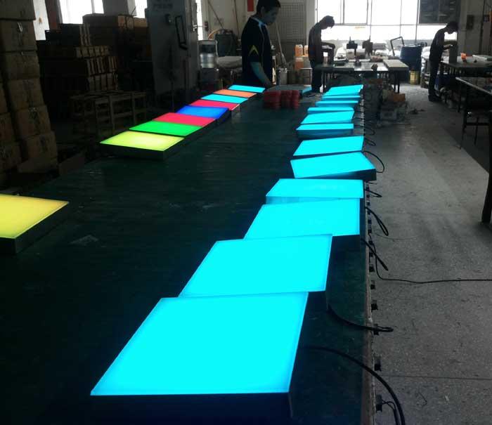 铝材方形地砖灯,发光地砖灯,广场地砖灯