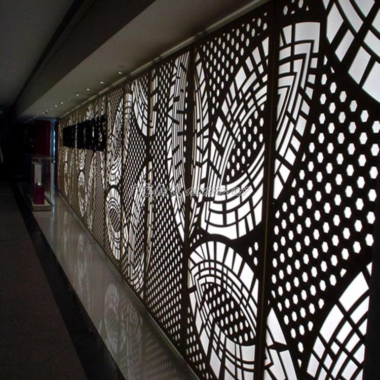 供应雕刻造型铝板 木纹色穿孔铝板