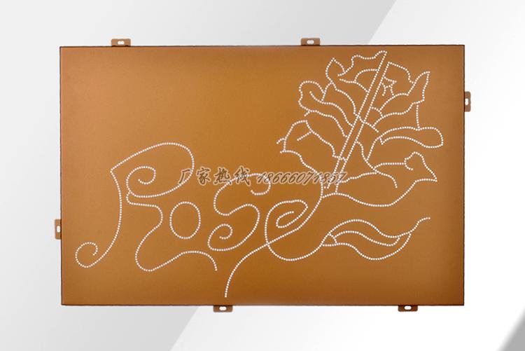 广告牌微孔雕花氟碳铝板
