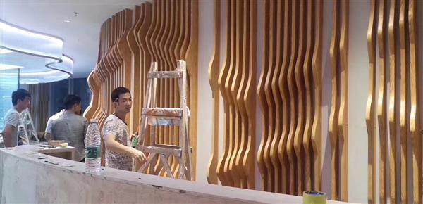 弯弧铝方通-大波浪形烧焊铝板