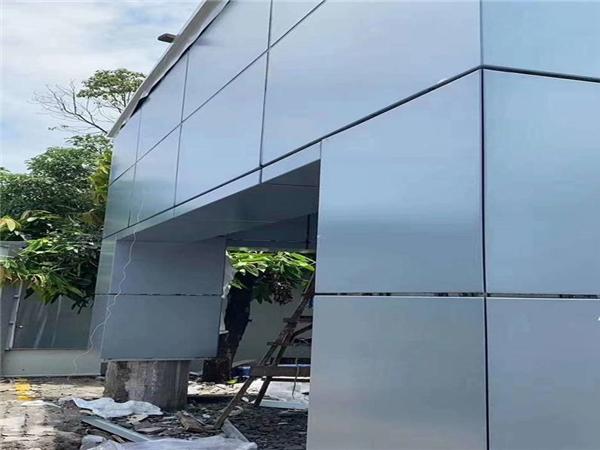 冲孔铝单板幕墙效果图 外墙铝单板效果图