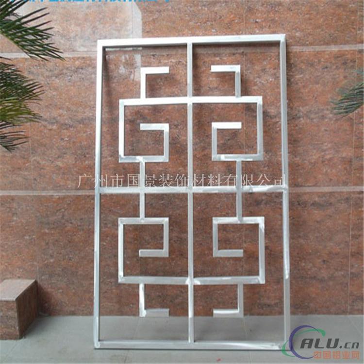 广东欧佰装饰专业定做焊接各种 铝合金方管窗花屏风格子,   木纹铝窗图片