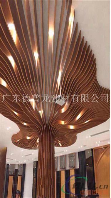 德普龙专业定制弧形铝方通、弧形木纹铝方通