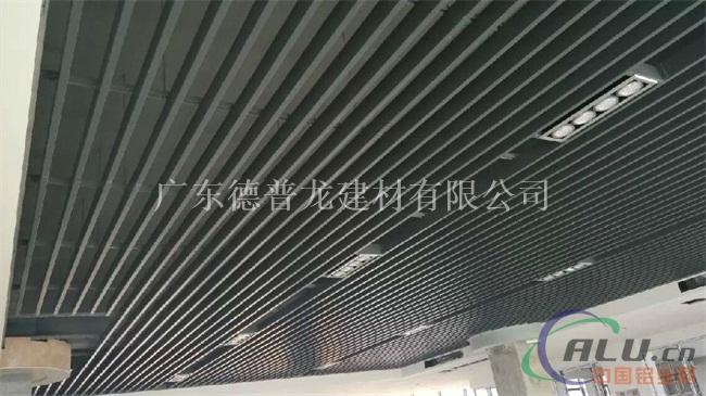 转印木纹铝方通天花,u型木纹铝格栅吊顶