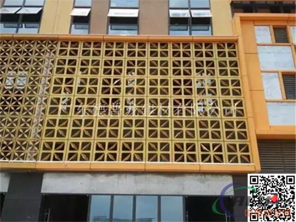 铝窗花 中式铝合金窗花格 室内外格子幕墙图片