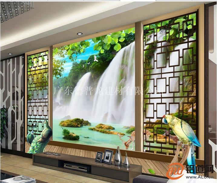 家庭电视背景墙雕刻仿古铝窗花指定加工厂
