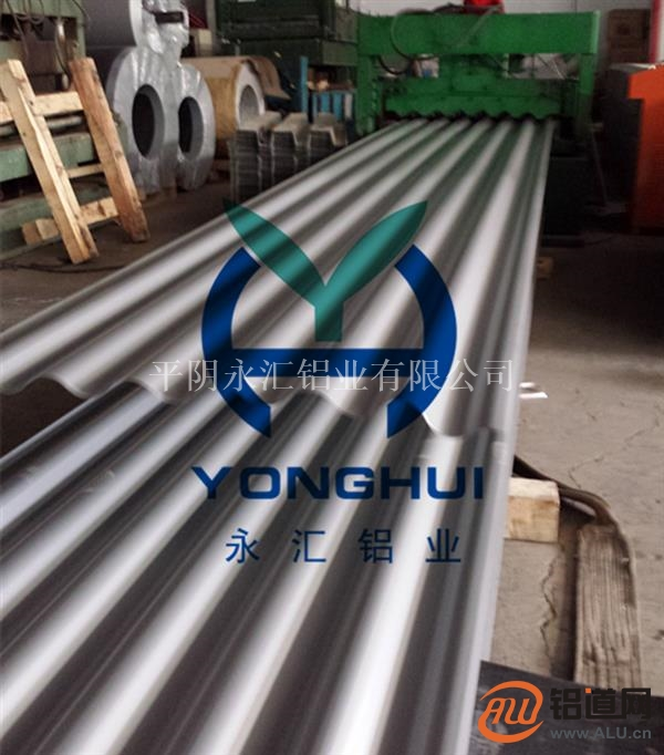 永汇铝业生产780型铝镁锰铝屋面板