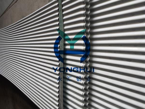 永汇铝业小波纹弧形铝合金压型板