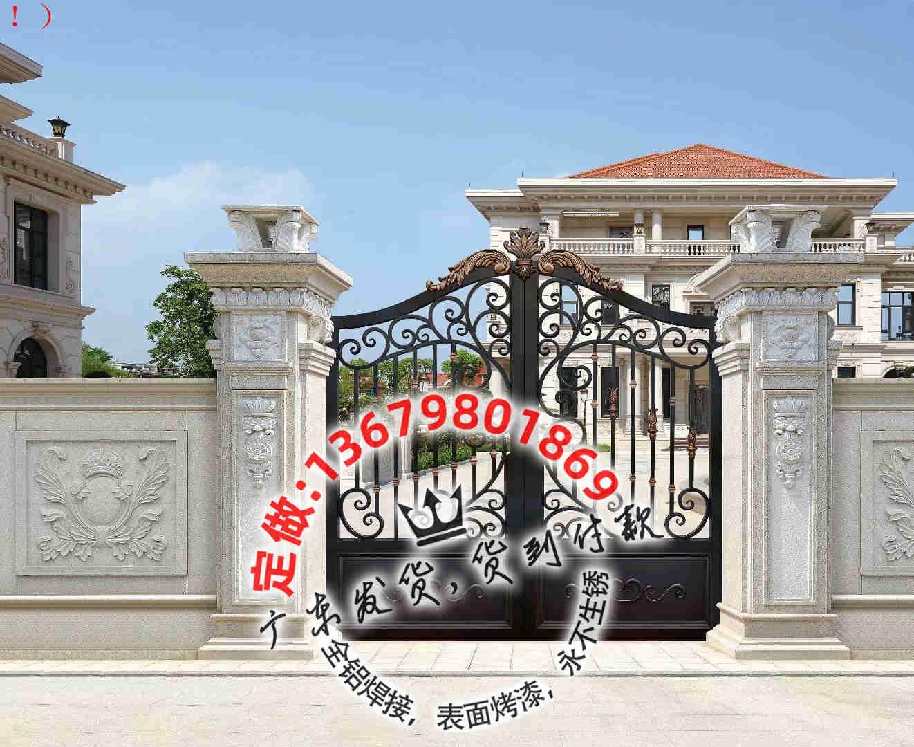 中式庭院乡村别墅大门