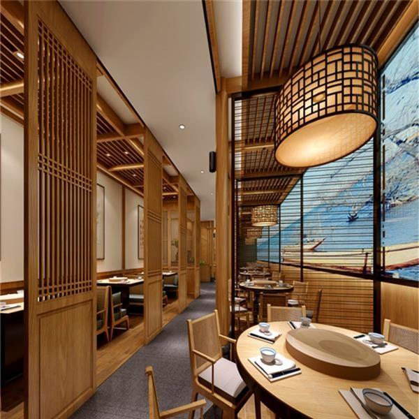 木纹色铝窗花-铝型材中式防盗网