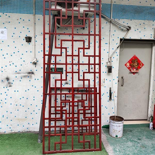 广东汕尾公园长廊建设铝屏风