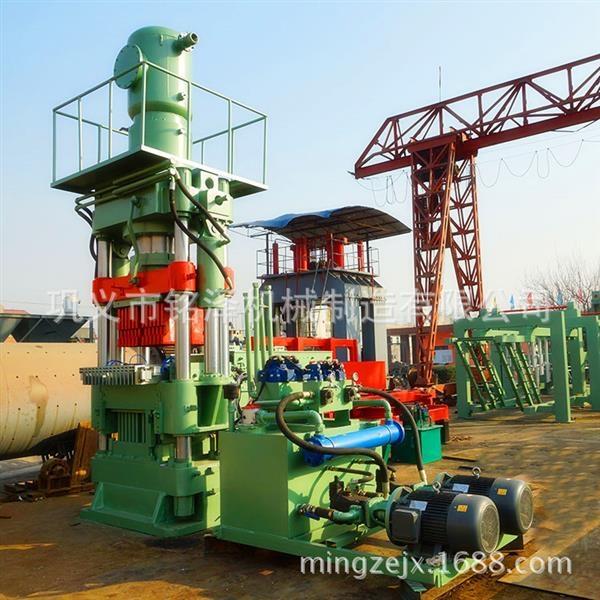 大型耐火材料切块砖机采用液压成型定位准确
