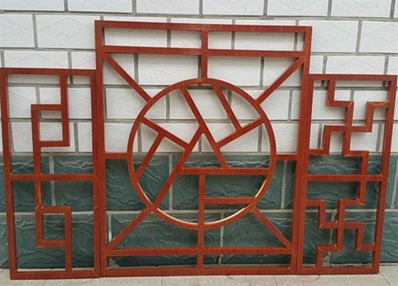 防盗网木纹铝花格古镇窗户改造