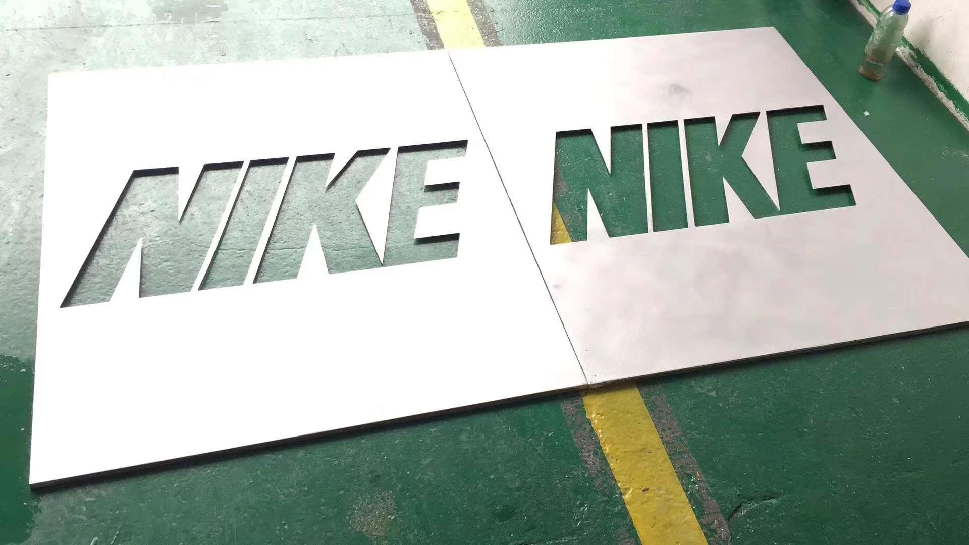 雕刻字母铝板-树形无孔铝板