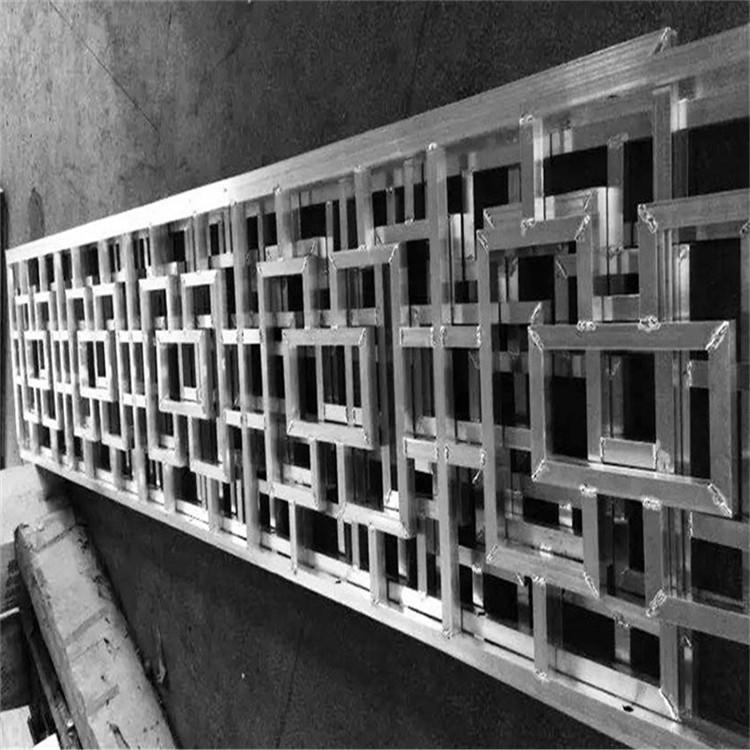 中式铝花格防盗网厂家定制