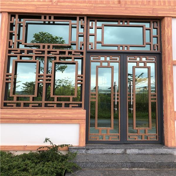 铝合金花格窗 室内铝合金仿古门窗