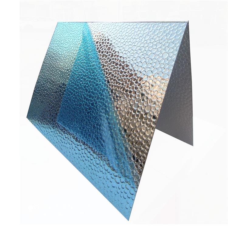 植物照明灯罩冰箱空调用豆纹锤纹压花铝板桔皮纹双面半球菱形铝板