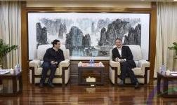 中色科技股份有限公司董事长黄粮成到访集团