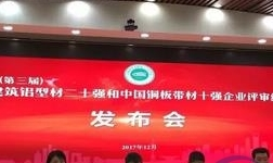 2017年中国建筑铝型材二十强公示,广东高登铝业集团上榜!