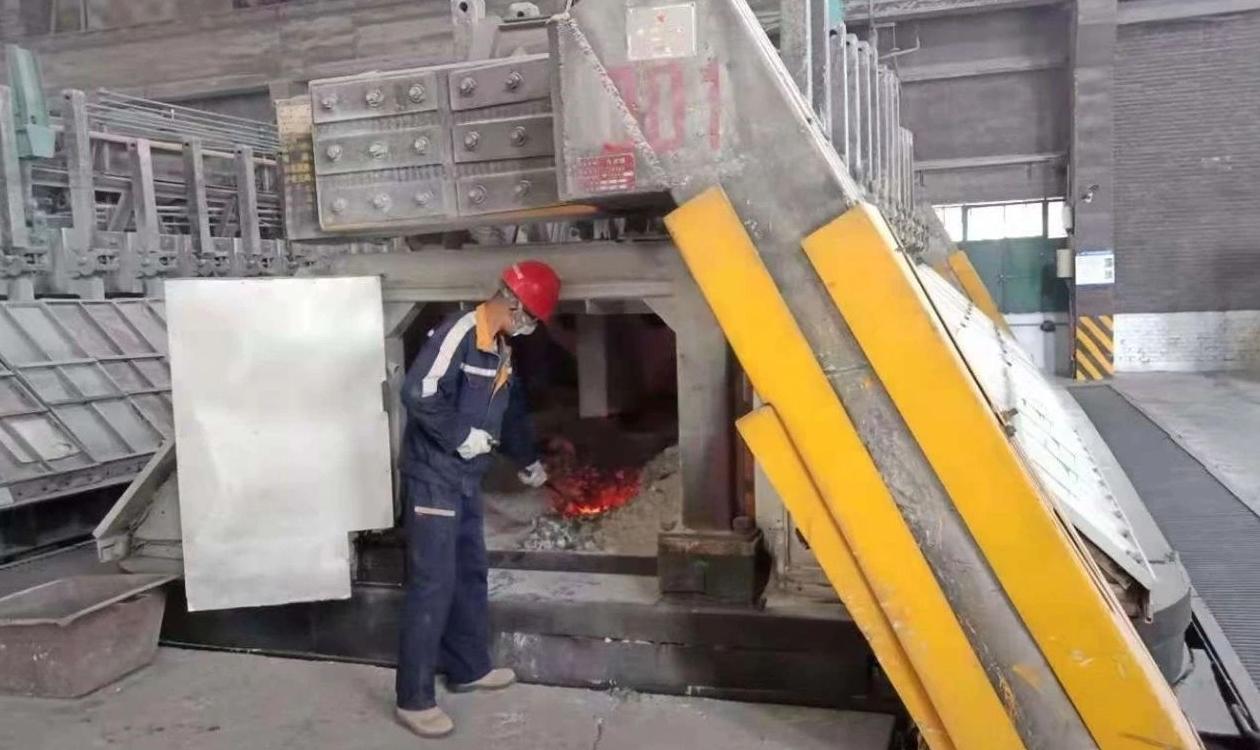 中铝青海分公司1号电解槽运行槽龄达5026天