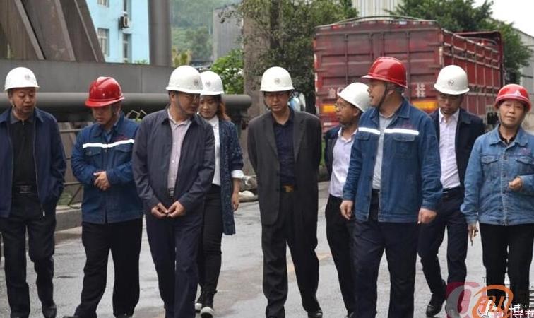 南川区人大副主任赵明忠一行到先锋氧化铝公司调研