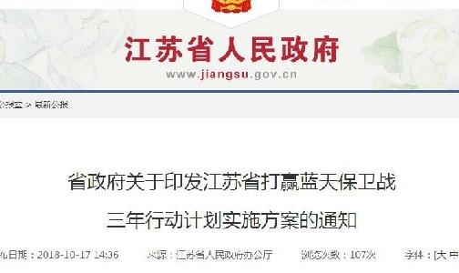 江蘇省打贏藍天保衛戰三年行動計劃實施方案的通知(鋁部分)
