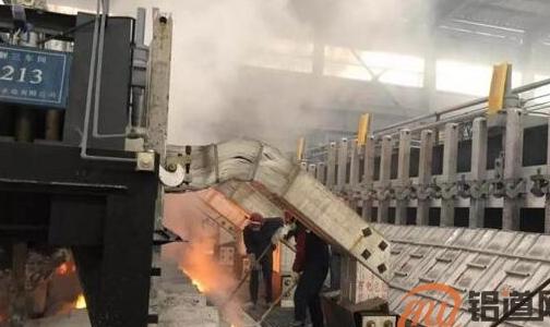 青海西部水电有限公司首台420KA大修电解槽顺利焙烧启动