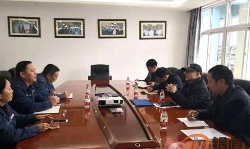 陕西省物流集团煤炭运销有限公司董事长杨平一行到先锋氧化铝公司参观交流