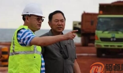印尼项目合资方领导及来宾到宏发韦立氧化铝公司考察指导工作