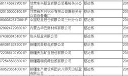 全国铝冶炼行业获得排污许可证的企业名单