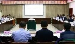 平果县召开年产100万吨铝合金加工材项目工作推进会