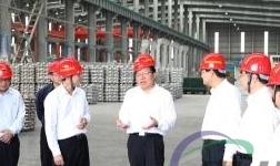 广西自治区常务副主席秦如培到百矿集团公司煤电铝一体化项目调研