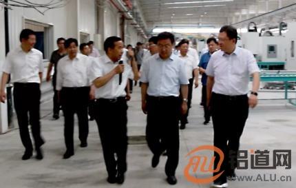 安阳市市长王新伟莅临林丰铝电公司调研铝车轮项目