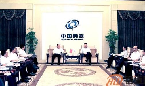 中国有色矿业集团王彤宙董事长与中国兵器集团董事长温刚举行会谈