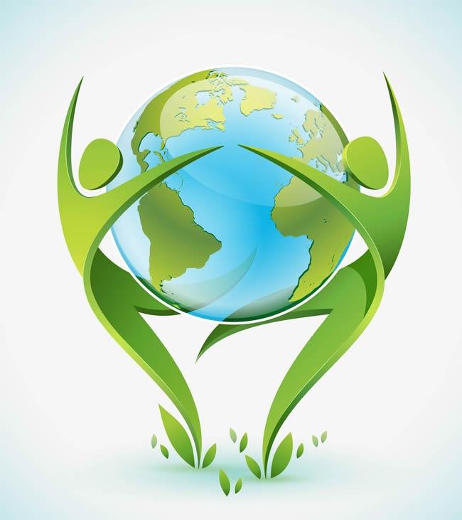 外创意环保手绘海报