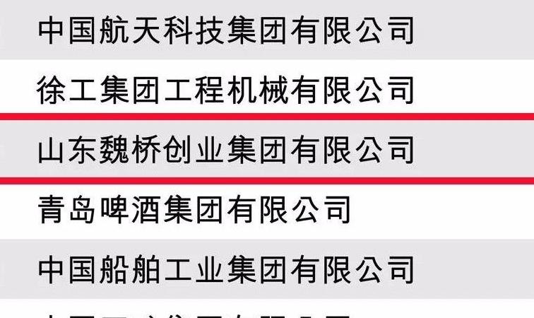 魏桥创业获评财富(中文网)2018年度受赞赏的中国公司