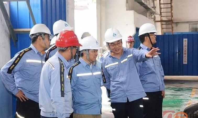 中铝股份副总裁田永莅临中州铝业调研