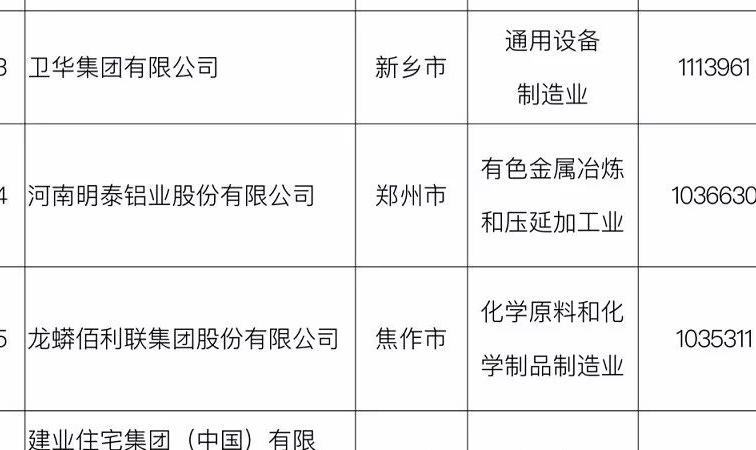 2018河南民营企业100强全榜单