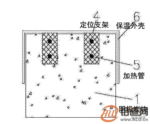 铝电解槽阴极炭块组装用快速加热方法
