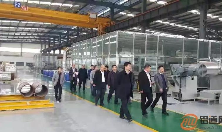 中国铝业协会曾黎滨会长对山东工业铝加工企业进行走访指导