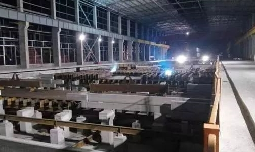 安装公司钢结构分公司承建的云南神火铝业500KA电解槽制安项目稳步推进