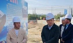 包头市东河区贾保良区长一行到中氢能源项目施工现场调研指导工作